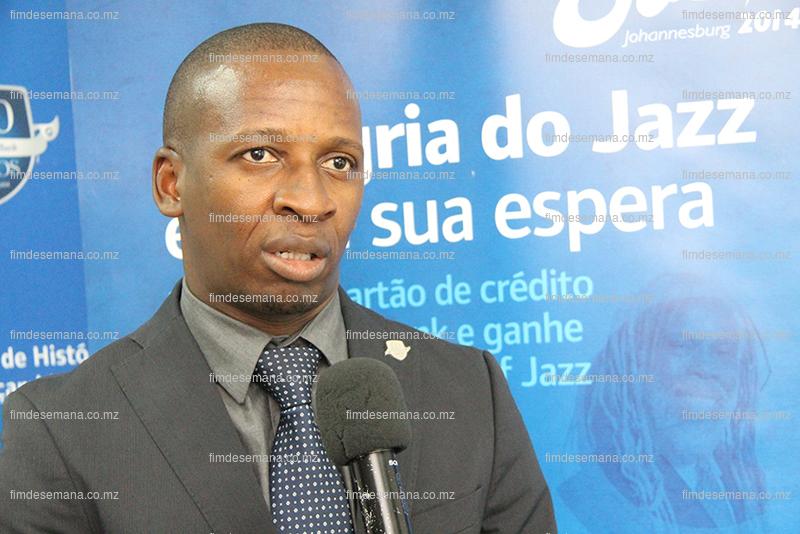 Claudio Banze represetante do Standard Bank