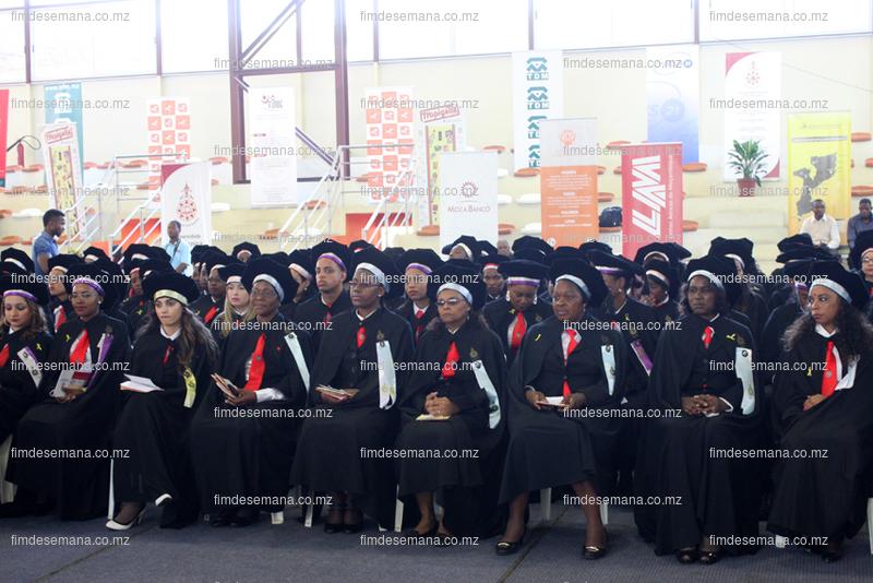 Uma parte dos graduados