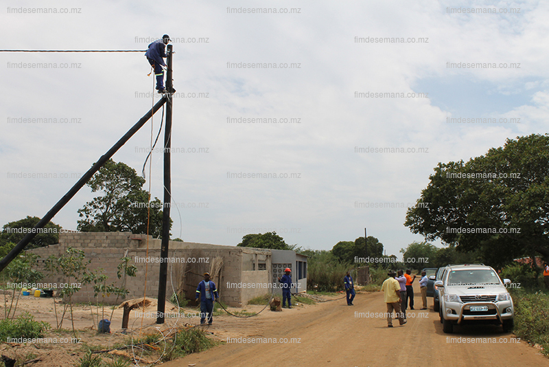 Obras de electrificação em curso na Matola Gare