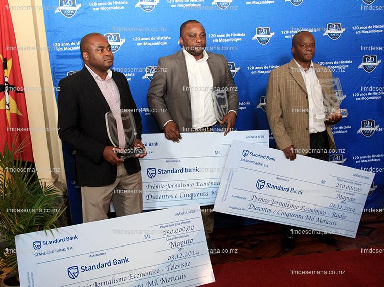 Vencedores do Prémio de Jornalismo Económico Standard Bank 2014
