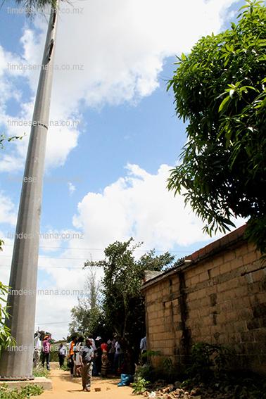 Uma das casas erguidas ilegalmente no traçado da nova linha de Alta Tensão