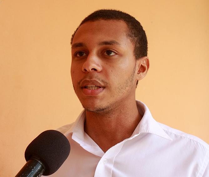 Rui Correia porta-voz do Seminário Jovem Milénio e Vice-Presidente da AIESEC