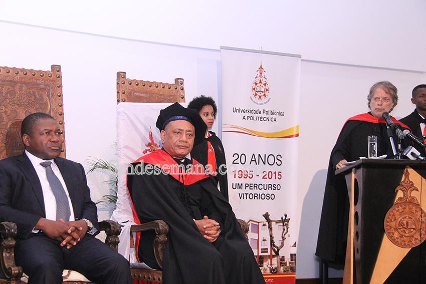 Painel que presidiu a cerimónia de doutoramento Honoris Causa