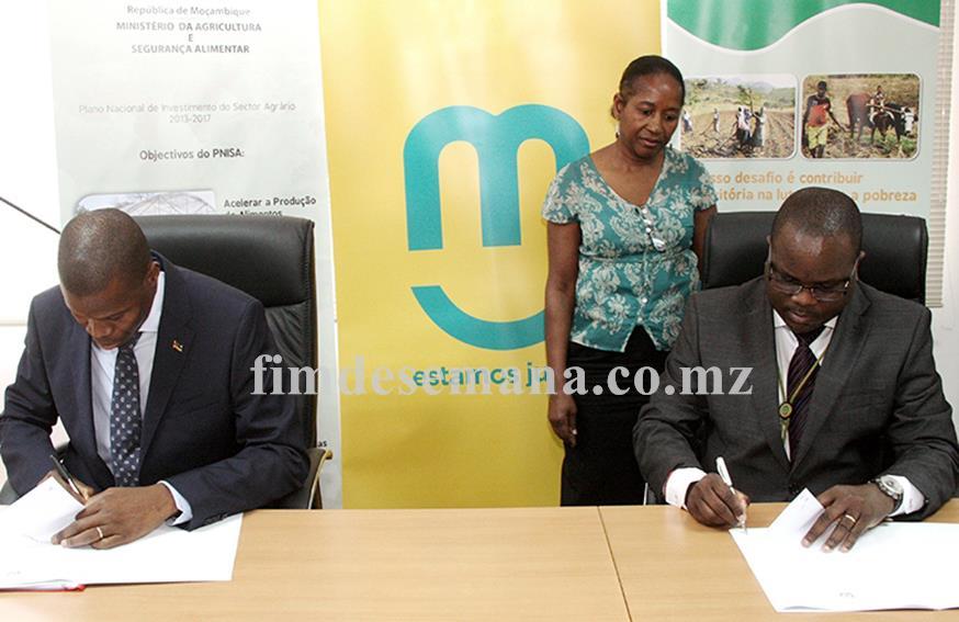 Acto da assinatura do memorando entre a mcel e o Ministério da Agricultura e Segurança Alimentar