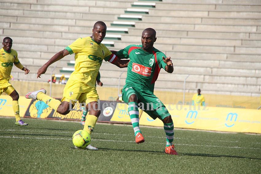 Jogo da final taça Moçambique mcel entre o Clube Ferroviário da Beira e a Liga Desportiva de Maputo 1