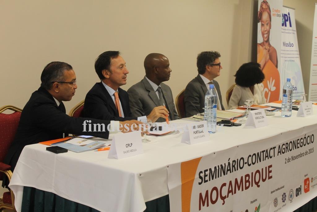 Mesa que presidiu o Seminário Contact Agronegócio Moçambique