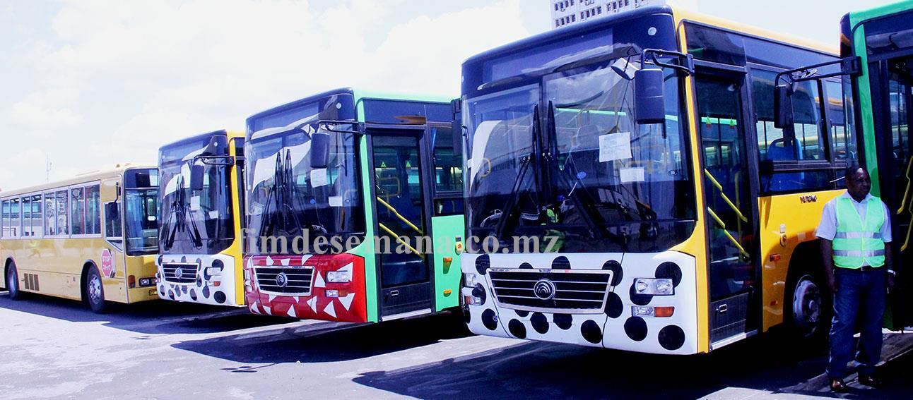 Parte dos autocarros projecto Parceria Público Privada