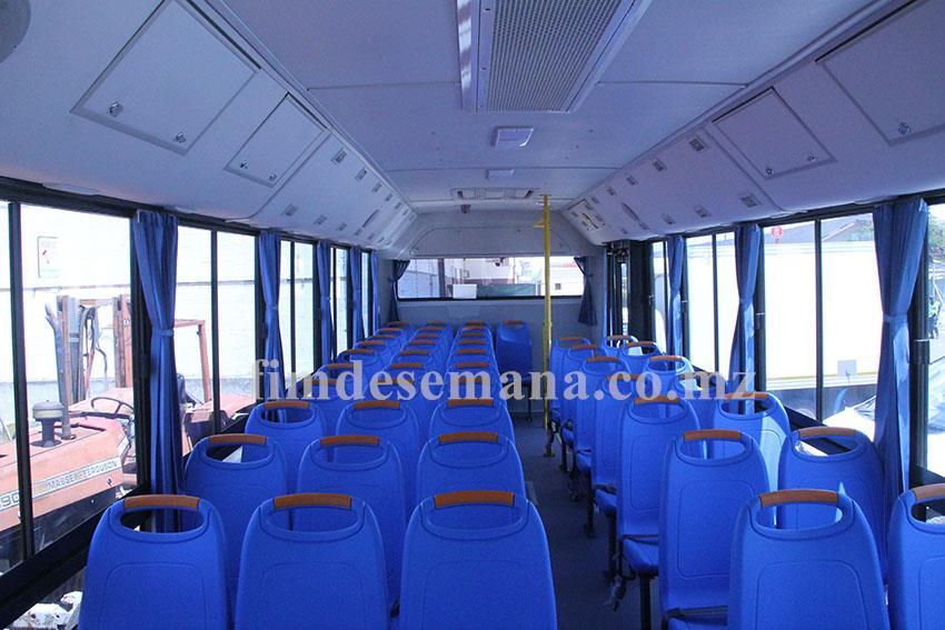 Parte interior dos autocarros