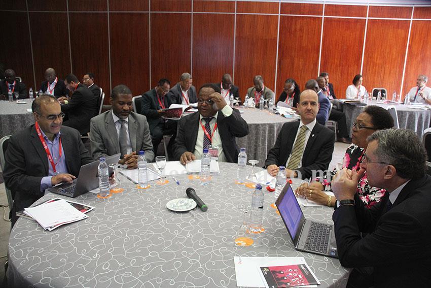 Participantes no encontro de altos dirigentes da AICEP