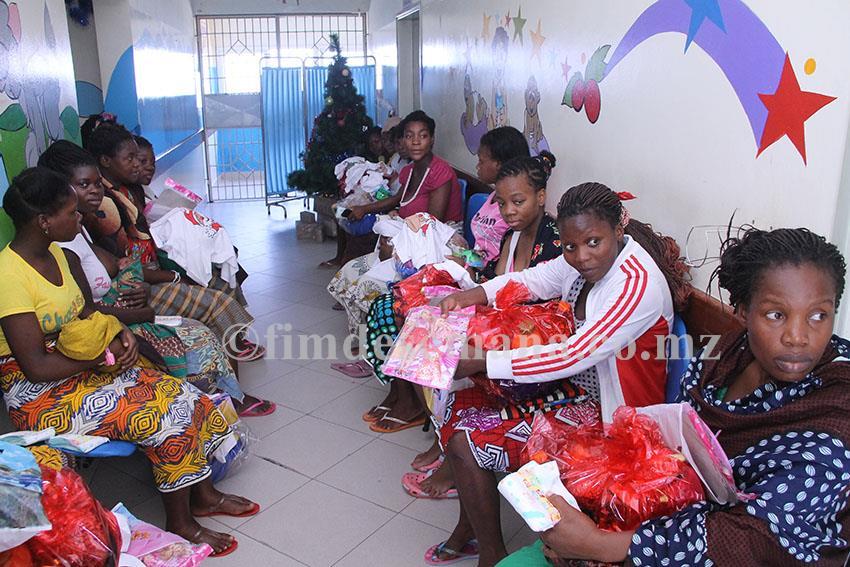 Mães das crianças internadas no Hospital Geral José Macamo