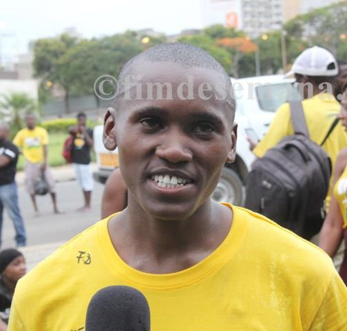 Sibusiso Nzima primeiro classificado categoria Federados Masculinos
