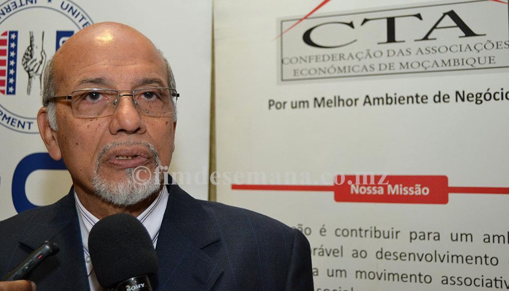 Kekobad Patel presidente do Pelouro da Política Fiscal Aduaneira e Comércio Internacional da CTA