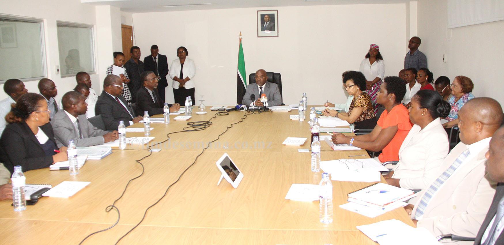 Mesa que presidiu Primeira Sessão do Conselho Nacional de Viação