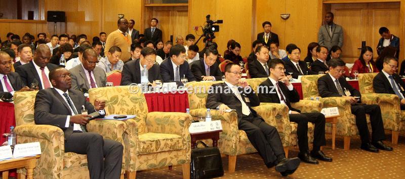Participantes no Forúm de Negócios Moçambique China 1