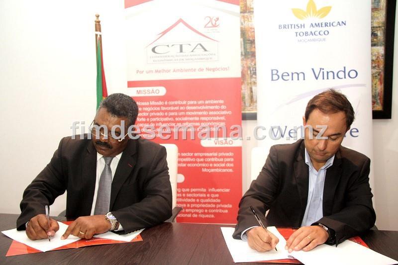 Asssinatura de memorando entre a CTA e a British American Tobacco Moçambique