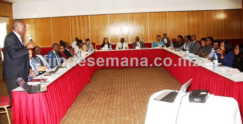 Participantes no Workshop de auscultaçao sobre a Proposta de Lei de Garantias Mobiliárias 1