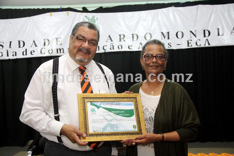 Acto da entrega do Certificado ao Orador
