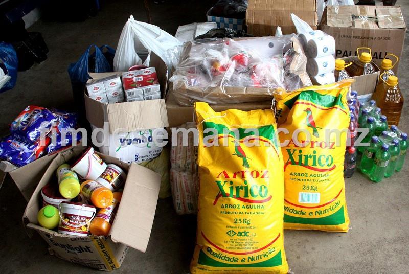 Parte dos produtos oferecidos ao Centro de Acolhimento de Idosos de Lhanguene