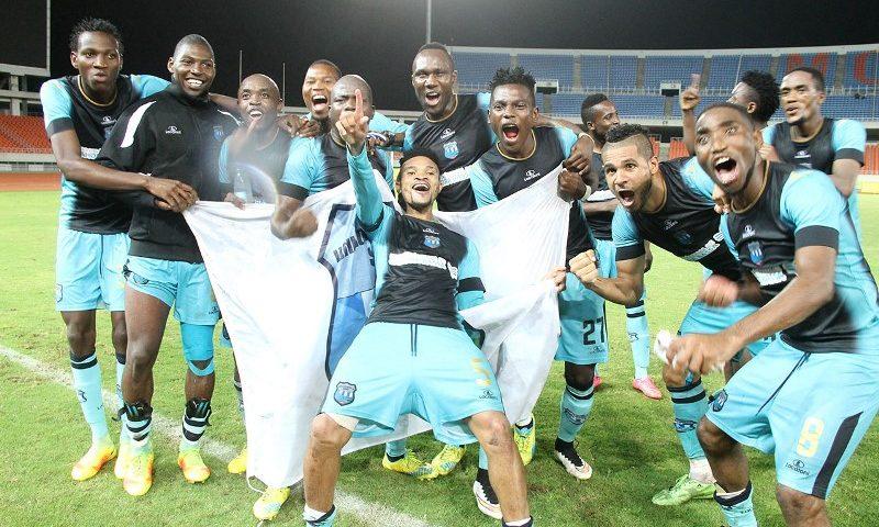 Equipa da União Desportiva de Songo vencedora da Taça Moçambique mcel 2016