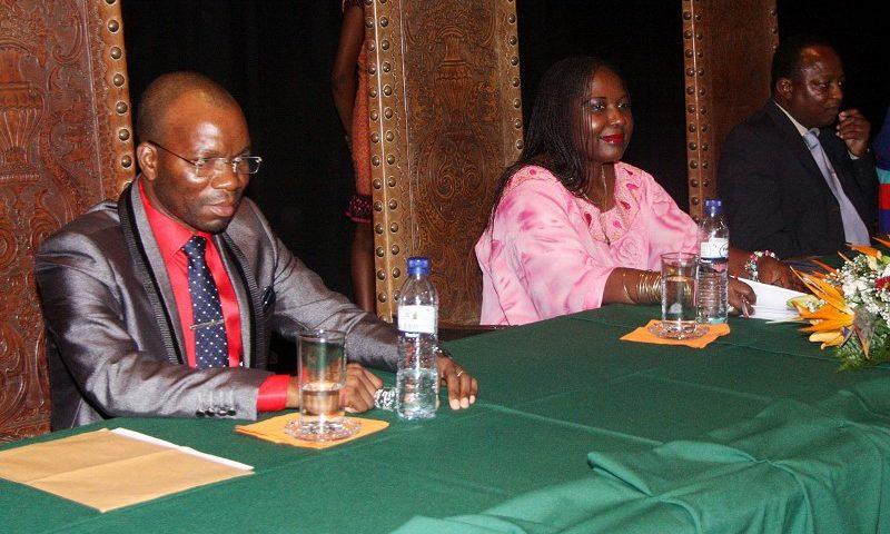 Mesa que presidiu a oração de sapiência da Ministra do Trabalho Emprego e Segurança Social