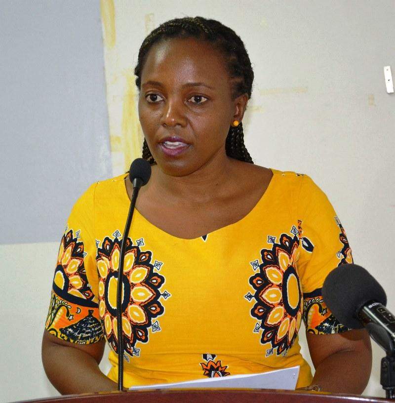 Ernestina Xirindza representante da directora do Trabalho Emprego e Segurança Social da Cidade de Maputo