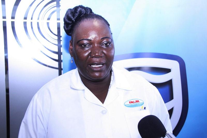 Justina Manjate Representante do Banco de Sangue do HCM