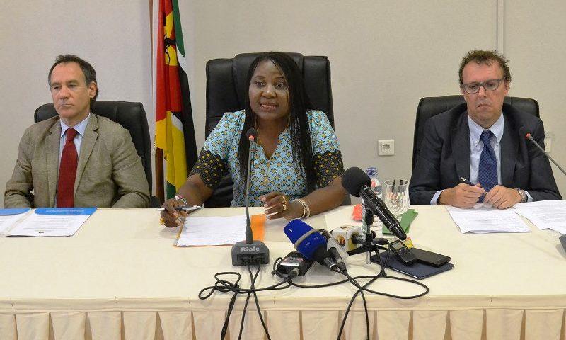 Vitória Diogo MITESS falando na conferencia de imprensa