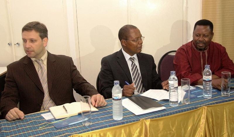 Mesa que presidiu a palestra sobre o Codigo de Ética dos Profisssionais de Contabilidade e Auditoria