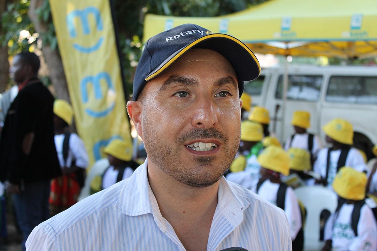 Filipe Carvalho Representante da Rotary Club da Matola