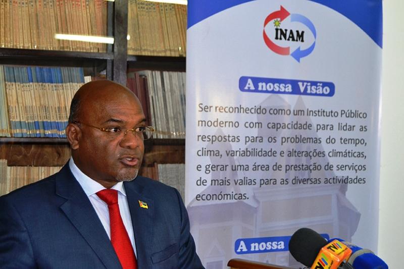 Carlos Mesquita Ministro dos Transportes e Comunicações intervindo no 4 Fórum Nacional de Antivisão Climática