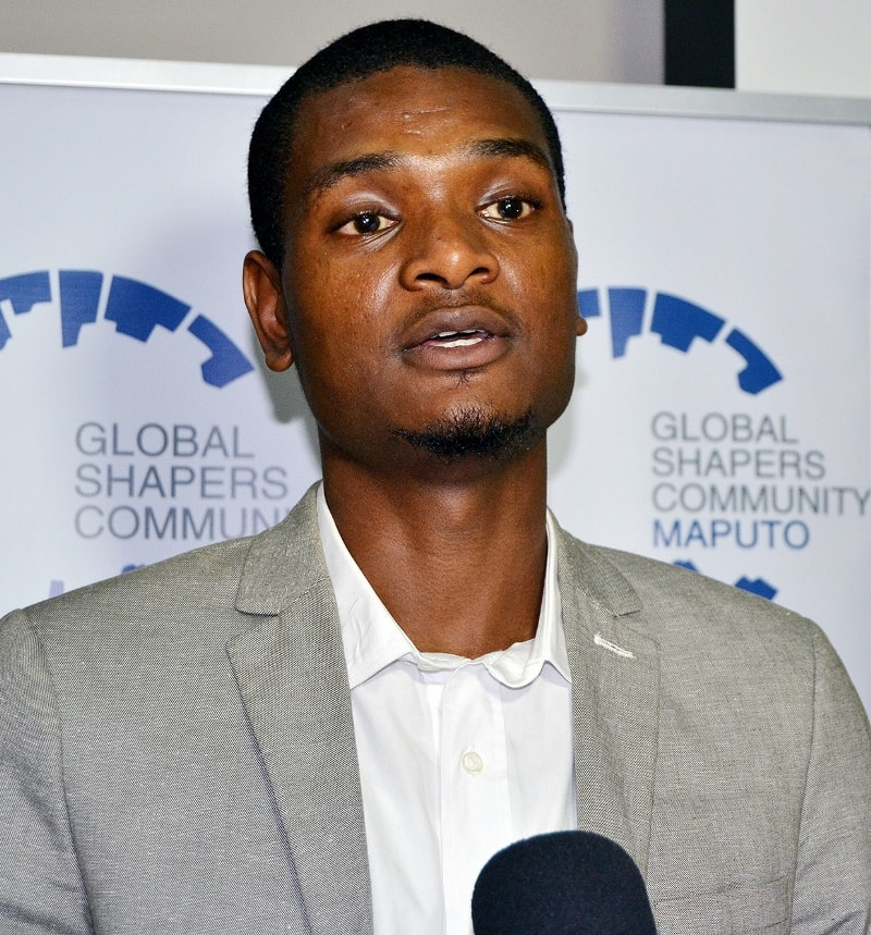 Fei Manhenche representante da Global Shapers de Maputo