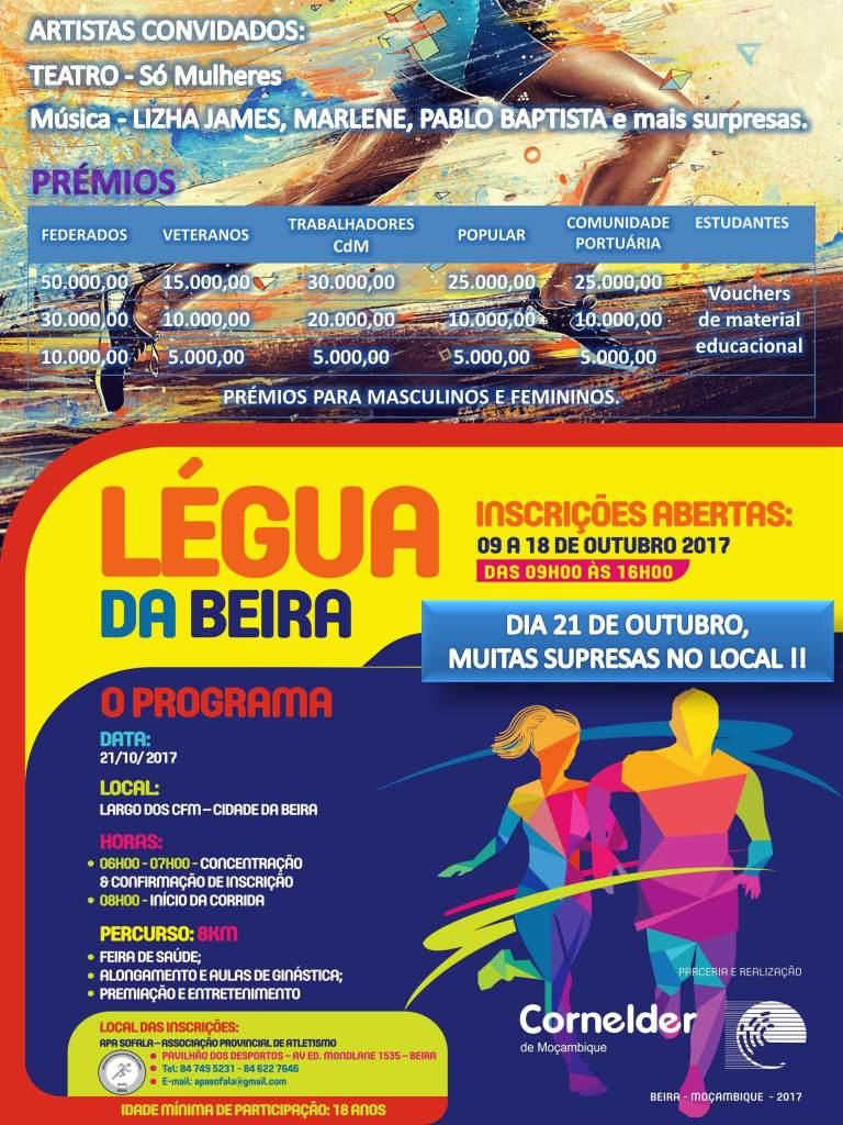 cartaz legua da beira cornelder de mocambique fds fim de semana