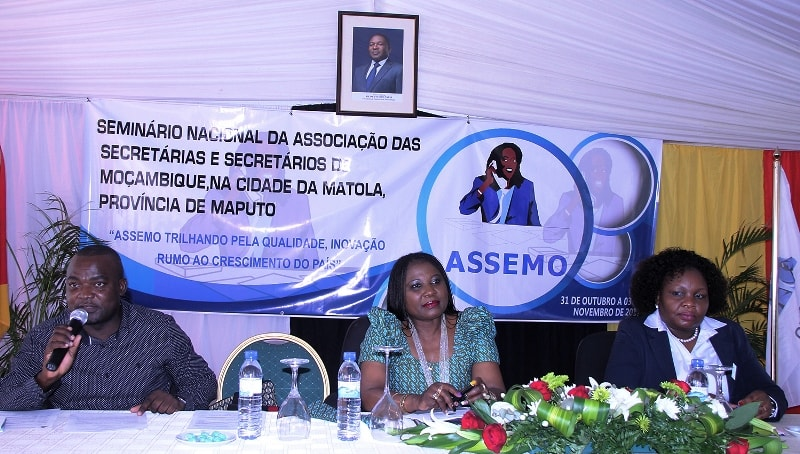 Mesa que presidiu o Seminário Nacional da ASSEMO