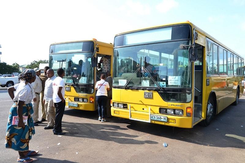 Autocarros que complementam o projecto Metrobus