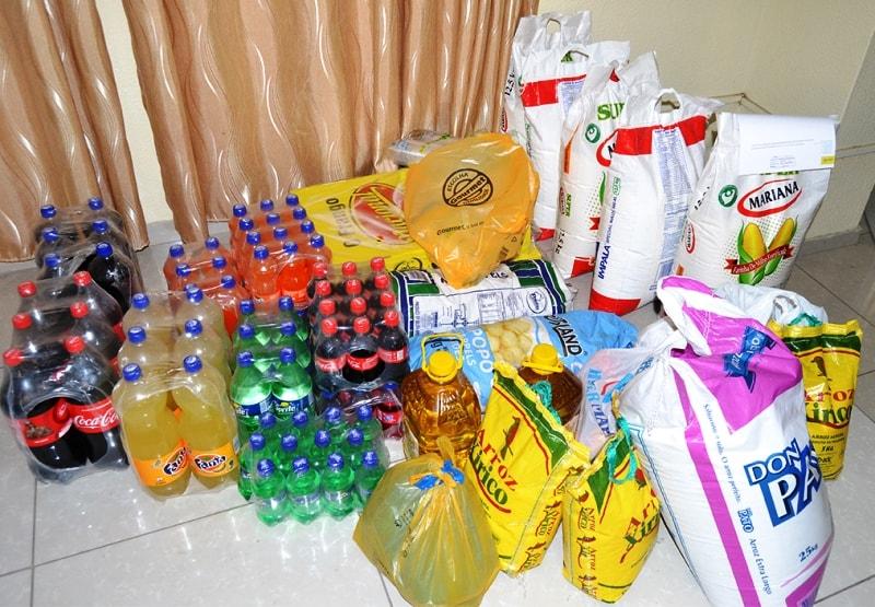 Parte dos donativos entregues ao Hospital Psiquiátrico do Infulene