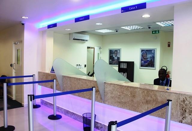 Interior da agência de Ribáuè