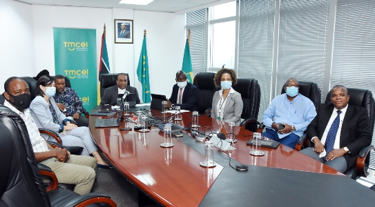 Membros do CA da Tmcel que participaram na cerimonia virtual 2