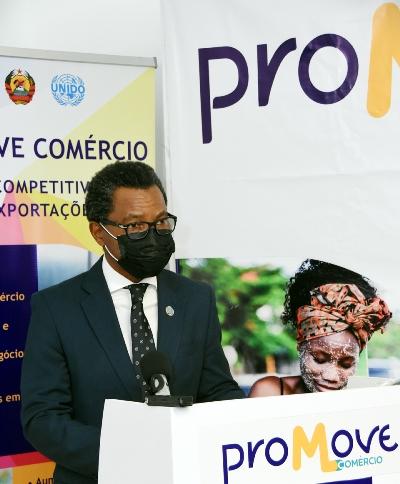 Jaime Comiche representante da UNIDO em Mocambique